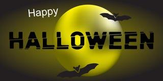 Halloween heureux et lune illustration libre de droits