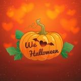 Halloween heureux nous aimons l'illustration de vecteur de potiron de Halloween Image libre de droits
