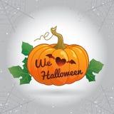 Halloween heureux nous aimons l'illustration de vecteur de potiron de Halloween Images stock
