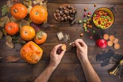 Halloween heureux ! Préparations pour le festival image libre de droits