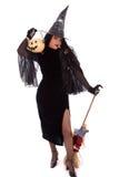 Halloween-Hexe Lizenzfreies Stockfoto