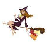 Halloween-Hexe Stockfotografie