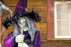 Halloween-Hexe lizenzfreie stockfotografie