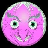 Halloween-Hexe emoji smileygesicht Beldam Emoticonshexe digitale emoji Hexe ENV ai vektor abbildung