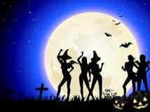 Halloween-Hexe-Party Lizenzfreie Stockbilder