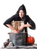 Halloween-Hexe-Wäsche-Tag Stockfoto