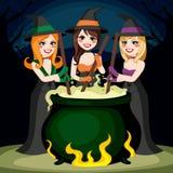 Halloween-Hexen-Trank stock abbildung