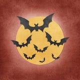 Halloween-Hieb und Mond aufbereitetes papercraft Stockfotos