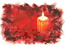 Halloween-Hintergrund mit blutiger Kerze Stockbild