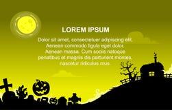 Halloween-Hintergrund mit gelber Farbe Lizenzfreies Stockbild