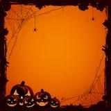 Halloween-Hintergrund mit Kürbisen Lizenzfreie Stockfotografie