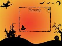 Halloween-Hintergrund mit Raum für Mitteilung Stock Abbildung