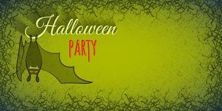 Halloween-Hintergrund mit Schläger vektor abbildung