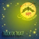 Halloween-Hintergrund mit Schläger Stockfotos