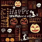 Halloween-Hintergrund mit Schlägern und Kürbis. Lizenzfreies Stockfoto