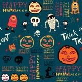 Halloween-Hintergrund mit Schlägern und Kürbis. Lizenzfreie Stockfotos