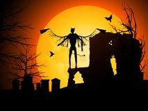 Halloween-Hintergrund mit Teufel Lizenzfreie Stockfotografie