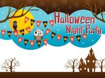 Halloween-Hintergrund und -gegenstände Lizenzfreie Stockbilder