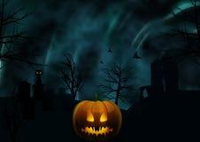 Halloween-Hintergrund und unheimlicher Himmel Stockbild
