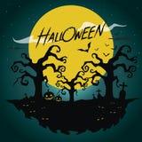 Halloween-Hintergrund Vektor Lizenzfreies Stockfoto