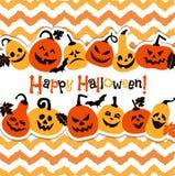 Halloween-Hintergrund von netten Kürbisen Abstrakter Hintergrund des Herbstes Lizenzfreie Stockbilder