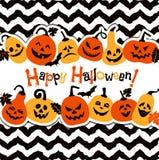 Halloween-Hintergrund von netten Kürbisen Abstrakter Hintergrund des Herbstes Stockbild