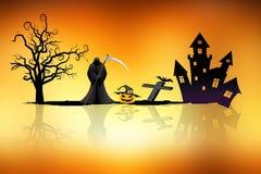 Halloween-Hintergrundideenkonzept Stockfoto