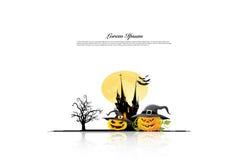 Halloween-Hintergrundideenkonzept Lizenzfreie Stockbilder