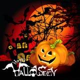 Halloween-Hintergrundkürbis Lizenzfreies Stockfoto