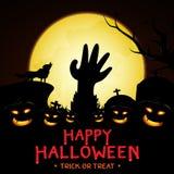 Halloween-Hintergrundvektordesign Lizenzfreies Stockbild
