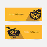 Halloween hipster pumpkin Royalty Free Stock Photography