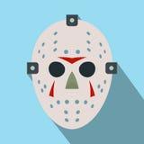Halloween hockey mask flat icon Stock Photos