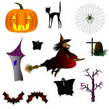 Halloween is a holiday of All Saints. Mystical and frightening characters for Halloween Stock Photo