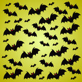 Halloween holiday background with bats Royalty Free Stock Images