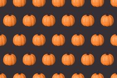 Halloween holiday background with glitter pumpkin decor Stock Photography