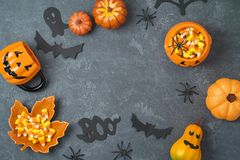 Halloween holiday background Stock Images