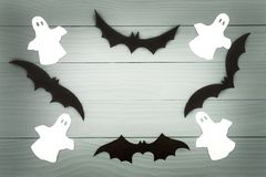 Halloween holiday background made of frame stock images