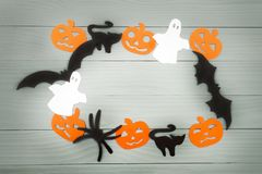 Halloween holiday background made of frame royalty free stock photography
