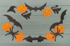 Halloween holiday background made of frame stock image