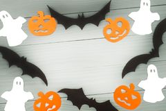 Halloween holiday background made of frame royalty free stock photo