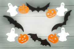 Halloween holiday background made of frame royalty free stock image