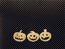 Halloween holiday background with pumpkins Jack-o'-Lantern on Royalty Free Stock Image