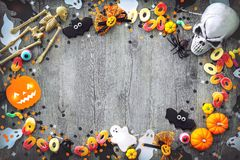 Halloween holiday background stock photos