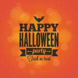 Halloween holiday card design background Stock Image