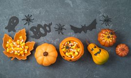 Halloween holiday composition Royalty Free Stock Photo
