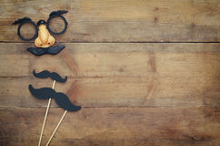 Free Halloween Holiday Concept. Funny Mustache Mask Stock Images - 76847904