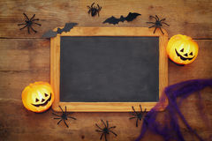 Halloween holiday concept top view Royalty Free Stock Image