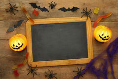 Halloween holiday concept top view Royalty Free Stock Photo