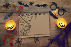 Halloween holiday concept top view Royalty Free Stock Photography