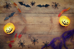 Halloween holiday concept top view Stock Photo